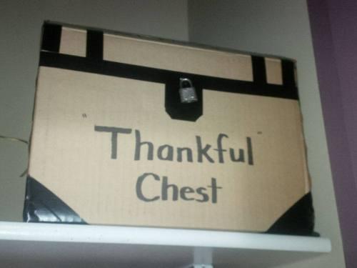 thankfulness chest