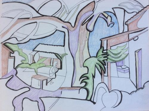 bread-tree-harvest-school-courtyard